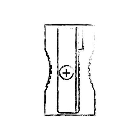 鉛筆学校と教育テーマのシャープナー孤立したデザインベクトルイラスト