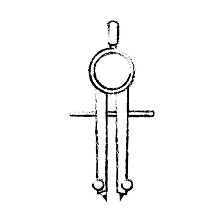Compass of instrument tool and work theme Isolated design Vector illustration