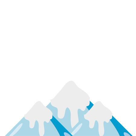 kleurrijke natuurlijke besneeuwde berg en koud weer vector illustratie Stock Illustratie