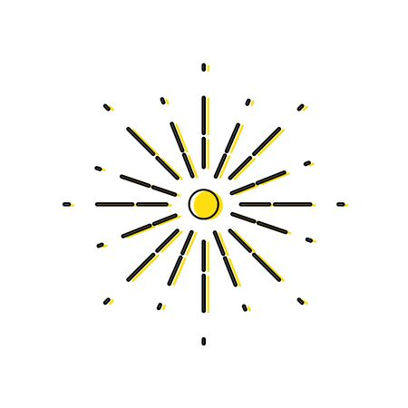 color natural sunburst with abstract ray design