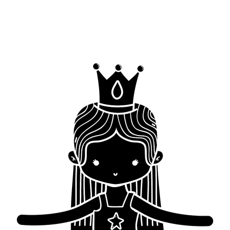 contour girl dancing ballet with straight hair and crown