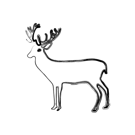 figure reindeer animal to merry christmas celebration