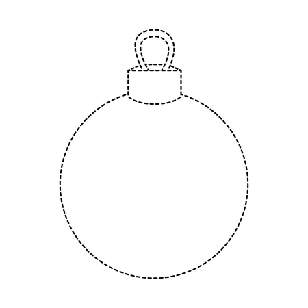 dotted shape circle ball decoration to christmas design