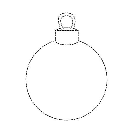 décoration de boule de cercle en forme de point à la conception de noël