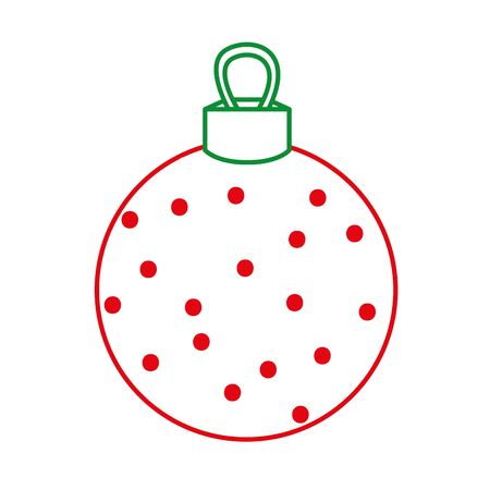 color line circle ball decoration to christmas design vector illustration