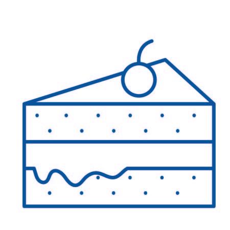 Isolated cake design