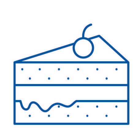 Isolated cake design Stock fotó - 90968938