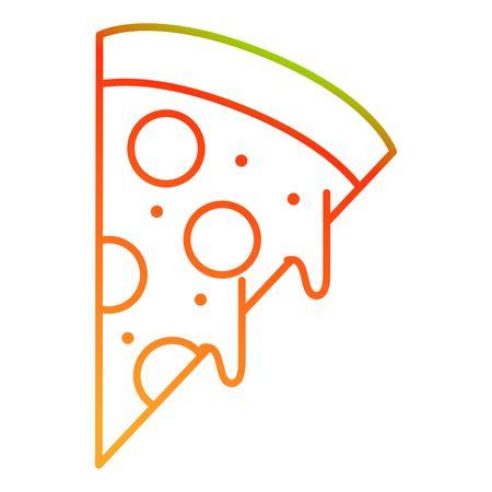Isolated pizza design Illustration