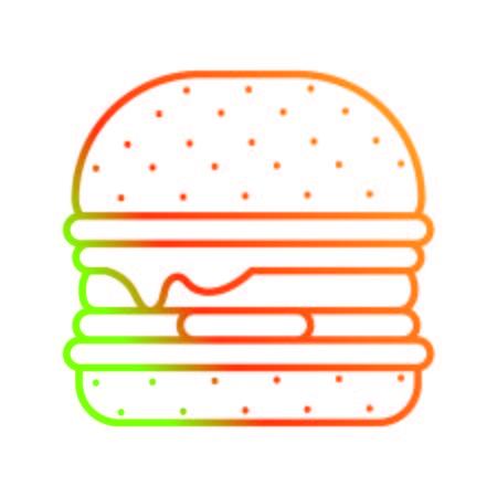 Isolated hamburger design