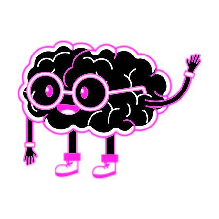 Brain cartoon design