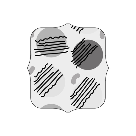 grayscale quadrate with graphic style geometric background vector illustration Çizim