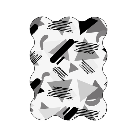 contour grayscale rectangle with style geometric memphis background vector illustration Illustration