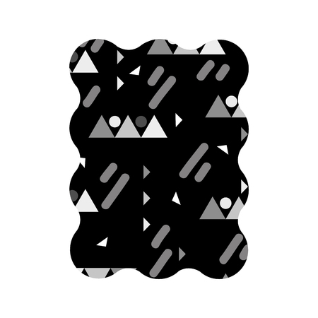 Abstract geometric shape patter design.
