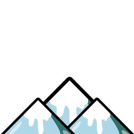 natuurlijke besneeuwde berg en koud weer vector illustratie