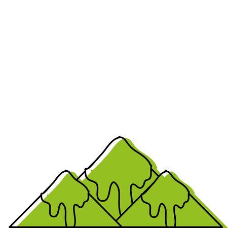 kleur natuurlijke besneeuwde berg en koud weer vector illustratie
