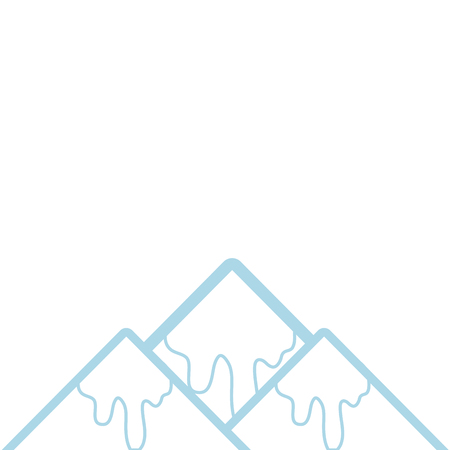 color line natural snowy mountain and cold weather vector illustration 向量圖像