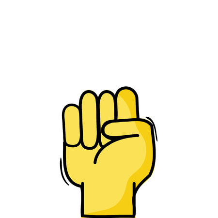 hand with oppose gesture symbol communication vector illustration
