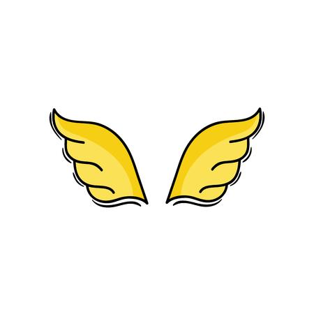 wings element style element design vector illustration