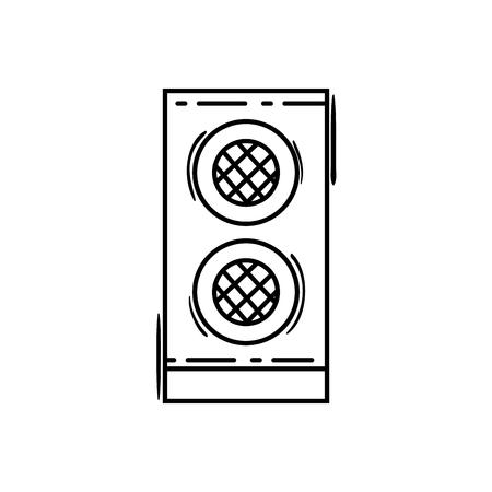 line speaker electronic equipment to listen to muisc vector illustration 向量圖像
