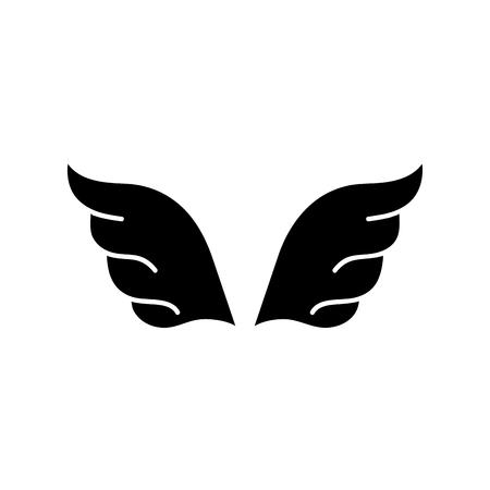 contour wings element style element design vector illustration