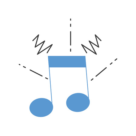 A colorful musical note sign to rhythm sound vector illustration Illustration