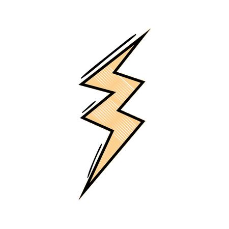 Grated thunder symbol icon, warning alert, vector illustration