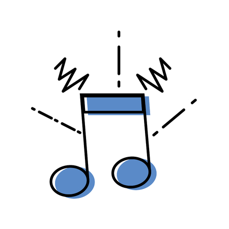 Colored musical note vector illustration