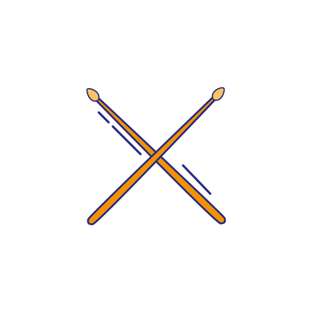 Full color drumstick object of wooden to play drum