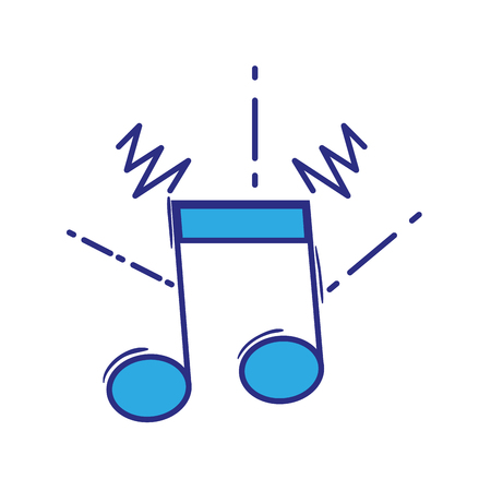A full color musical note sign to rhythm sound vector illustration