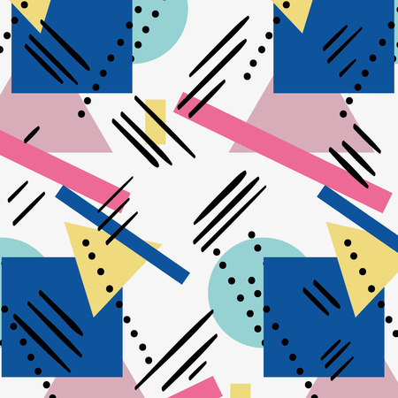geometric abstract figure memphis style backgroud