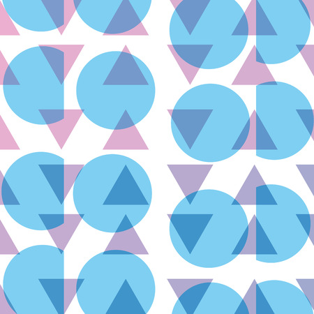 A circle and triangle memphis style background vector illustration Stock Vector - 91172637