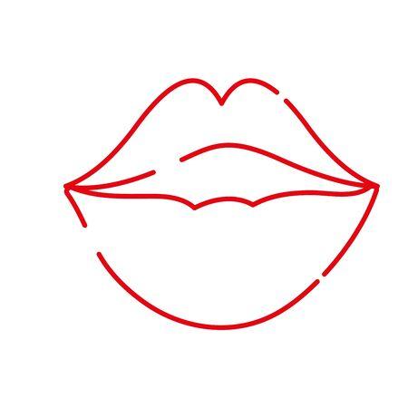 color line female fashion lips style vector illustration Illustration