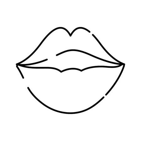 line female fashion lips style vector illustration