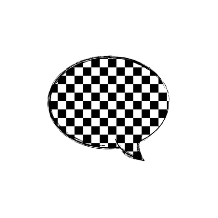 figure oval chat bubble text message style vector illustration