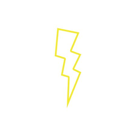 color line thunder weather patch style design vector illustration Illustration