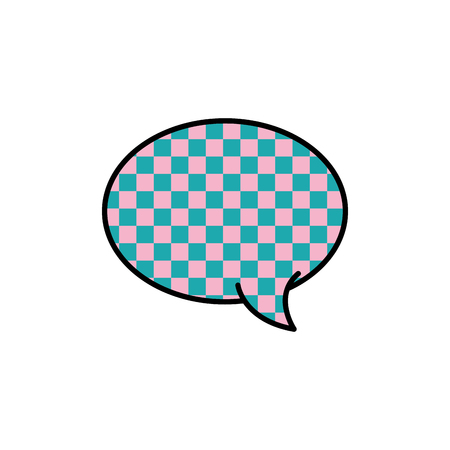 oval chat bubble text message style vector illustration