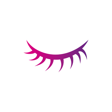 color silhouette close vision eye with eyelashes style vector illustration