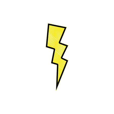 grated thunder weather patch style design vector illustration