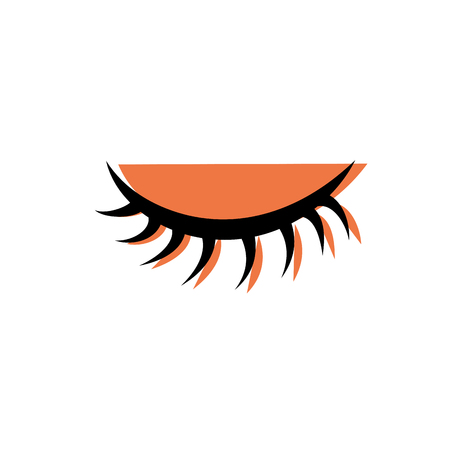 color close vision eye with eyelashes style vector illustration