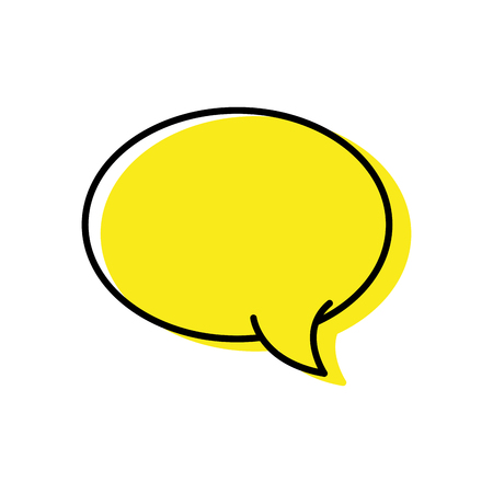 color oval chat bubble art text message vector illustration