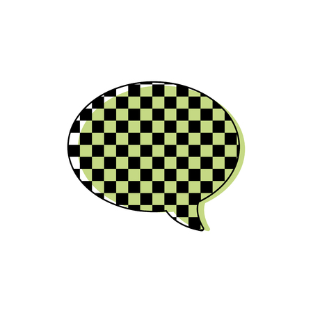 color oval chat bubble text message style vector illustration