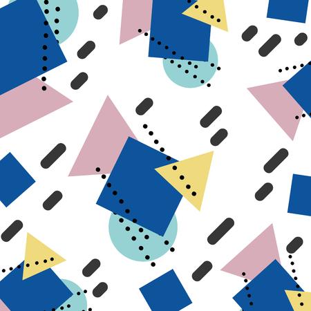 memhis geometric figures style background vector illustration Illustration