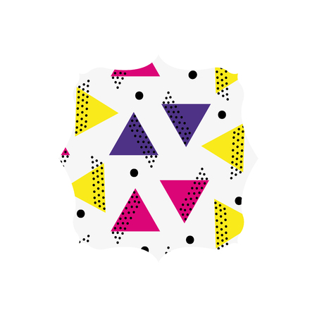 square with memphis graphic abstract background vector illustration