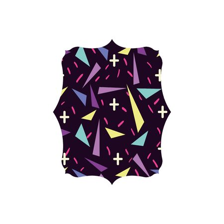 Colorful abstract shape pattern design.
