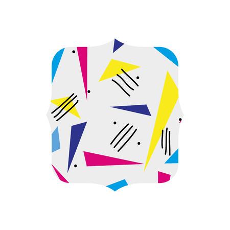 quadrate with style geometric figure background vector illustration Illustration
