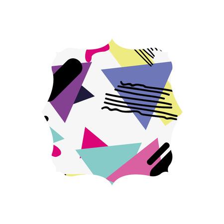 Square with geometric figure stye background illustration. Illustration