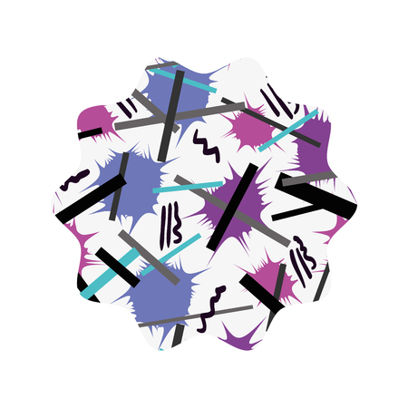 star with abstract memphis design background Illustration