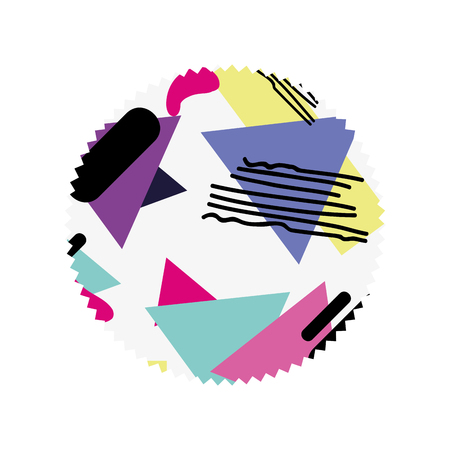circle with geometric figure stye background Illustration