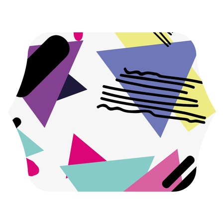 color square with geometric figure stye background vector illustration