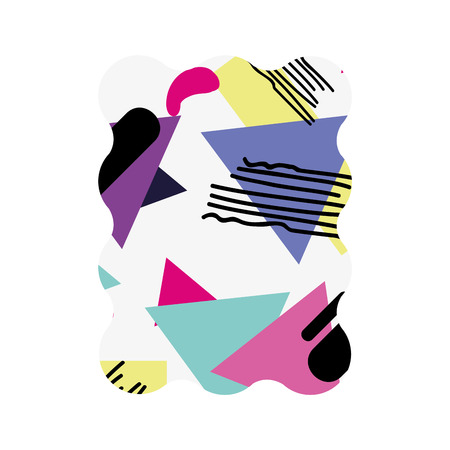 rectangle with geometric figure stye background vector illustration Illustration